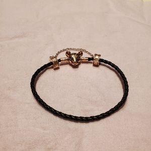 Pandora Rose Gold Lion Princess bracelet